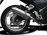 "DELKEVIC Honda CBR250R Full Exhaust System with 13"" Tri-Oval Silencer"