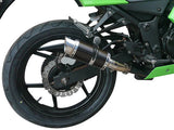 "DELKEVIC Kawasaki Ninja 250R (11/13) Full Exhaust System with Mini 8"" Carbon Silencer"