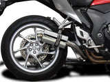DELKEVIC Honda VFR1200F Interceptor Slip-on Exhaust SS70 9""