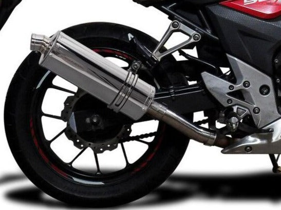 DELKEVIC Honda CB500 / CBR500R Full Exhaust System with Stubby 14