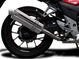 "DELKEVIC Honda CB500 / CBR500R Full Exhaust System with Stubby 14"" Silencer"