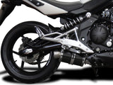 "DELKEVIC Kawasaki ER-6N (09/11) Full Exhaust System with DS70 9"" Carbon Silencer"