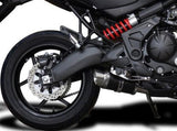 "DELKEVIC Kawasaki Versys 650 (2015) Full Exhaust System with Mini 8"" Carbon Silencer"