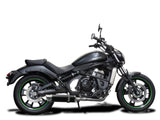 "DELKEVIC Kawasaki Vulcan S EN650 (15/20) Full Exhaust System with DL10 14"" Carbon Silencer"