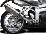 "DELKEVIC BMW K1200S Slip-on Exhaust Stubby 17"" Tri-Oval"