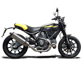 "DELKEVIC Ducati Scrambler 800 Slip-on Exhaust Stubby 17"" Tri-Oval"