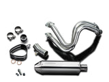 "DELKEVIC Kawasaki Z650 Full Exhaust System with 13"" Tri-Oval Silencer"