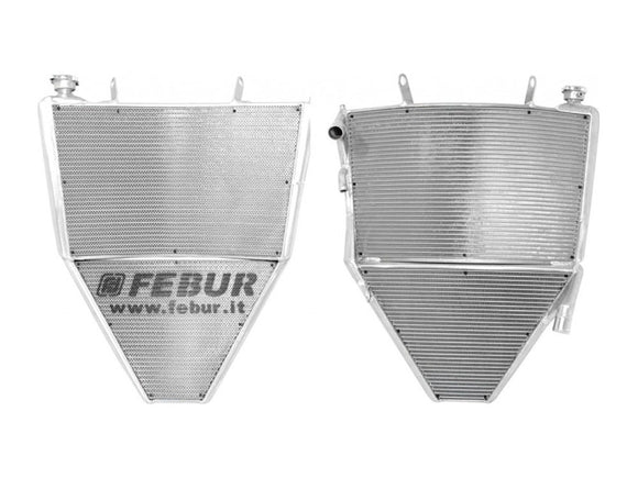FEBUR Yamaha YZF R6 (17/19) Complete Racing Water Radiator (With silicon hoses)
