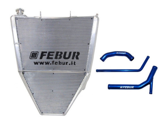 FEBUR Kawasaki ZX-10R (2016) Complete Racing Water Radiator (With silicon hoses)