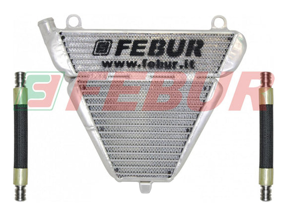 FEBUR Ducati Panigale 899/1199/1299 (12/18) Lower Racing Water and Oil Radiator (With remove thermostatic valve)
