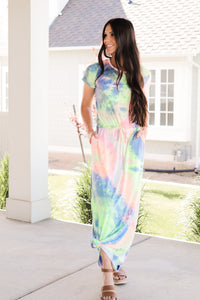 Tie-Dye Maxi Dress (Small-XLarge)