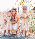 Toddlers yellow striped dress