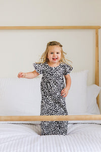 Childs Black and White Echo Night Dress