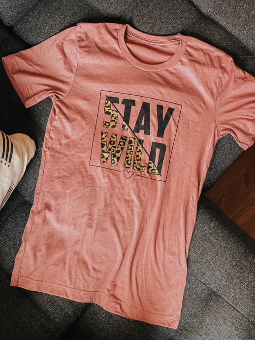 Stay Wild Tee (Small-XLarge)