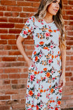 Floral Peasant Maxi Dress
