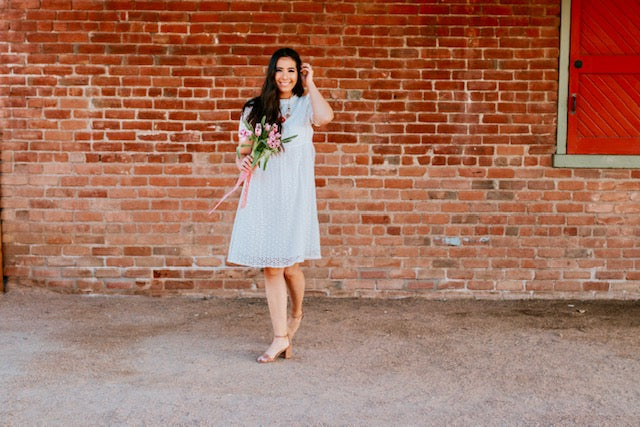 Daisy Eyelet Dress
