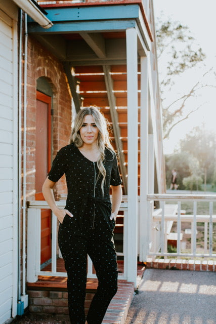 Luna Jumpsuit in Black