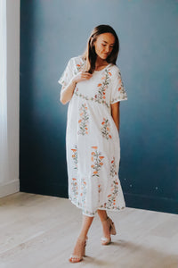 Embroidered Tier Dress (S-XL)