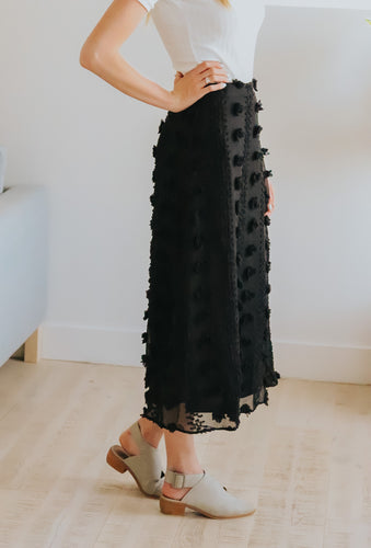 Swiss Dot Midi Skirt