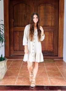 Button Down Ruffle Dress
