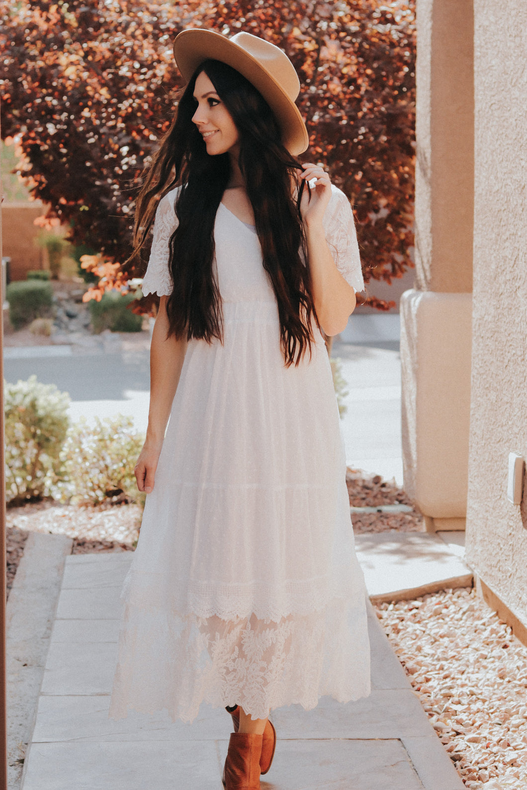 Warm Wishes Dress in Ivory
