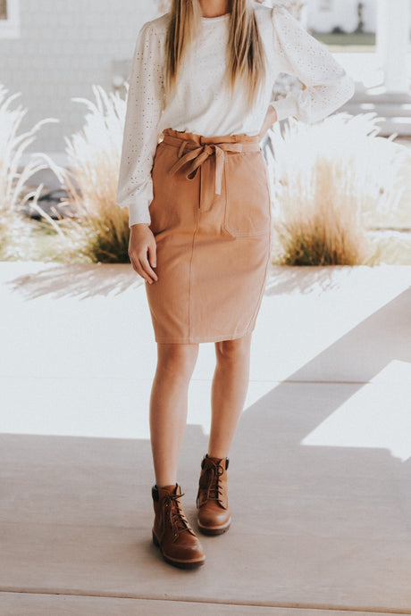 Debby skirt in Camel
