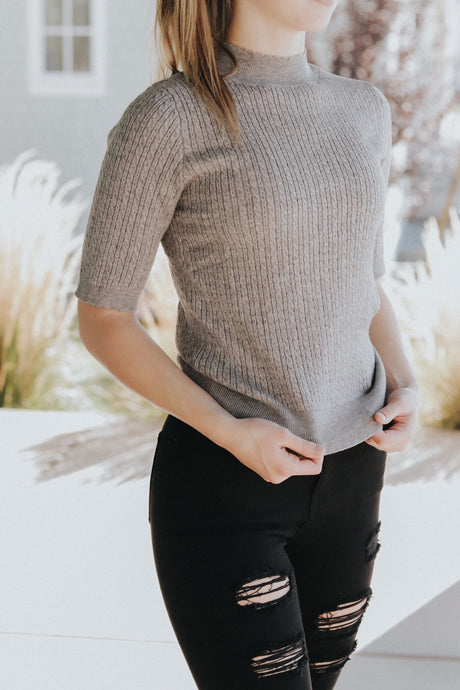Grey Sweater Top