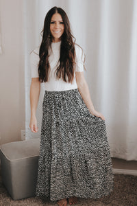 Black Cheetah Skirt