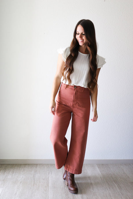 FINAL SALE Sierra Pants in Rust