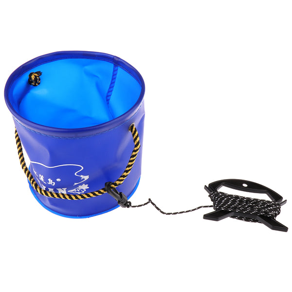 Collapsible Fishing Bucket - with Rope