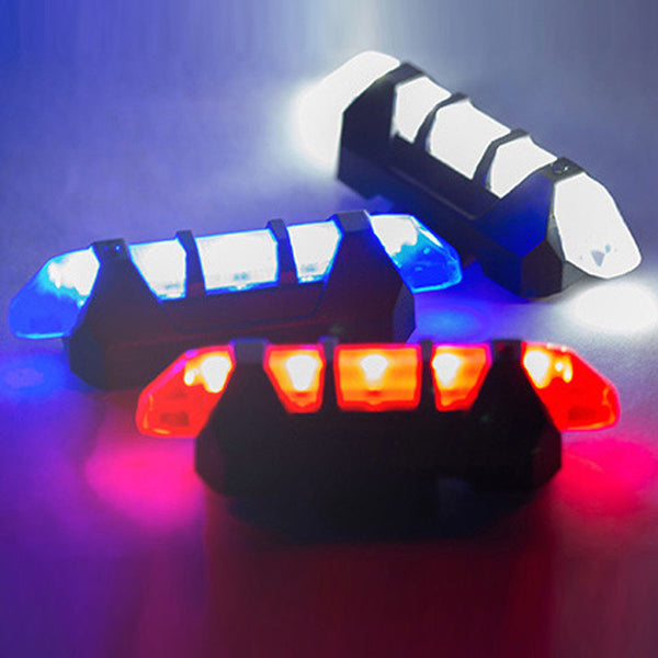 Cycling Light 5 LED USB Rechargeable