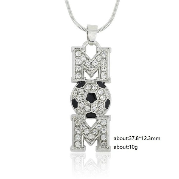Soccer Mom Crystal Necklace
