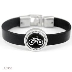 Sport Mom Leather Charm Bracelet