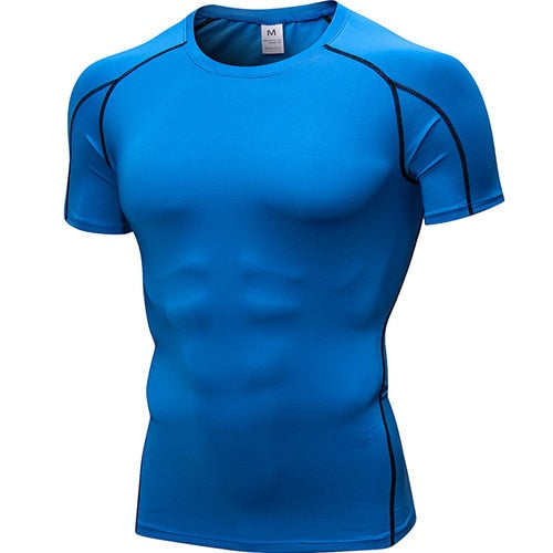 Yuerlian Quick Dry Compression Men's Shirts (Short and Long Sleeve options)