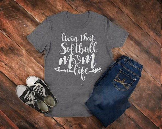 livin that softball mom life T-Shirt