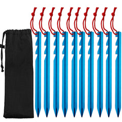 10pcs Lightweight and Portable Camping Tent Pegs Stake