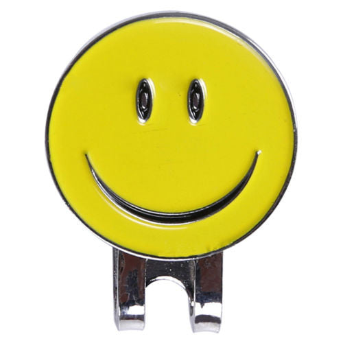 Smiley Face Golf Ball Marker Hat Clip Golf Accessories