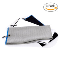 Microfiber Cotton Golf Sports Towel With Grommet Included