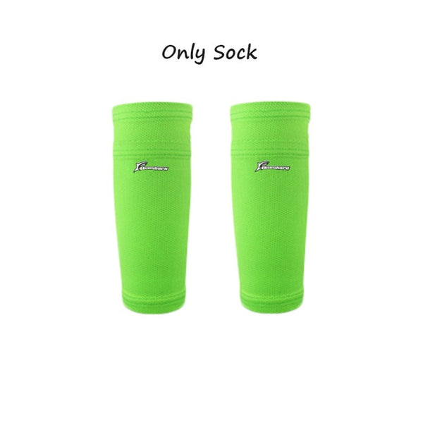 Soccer Shin Guards with Calf Sleeve and Shockproof Pad
