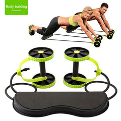 Fitness Ab Wheel Roller with Mat Trainer
