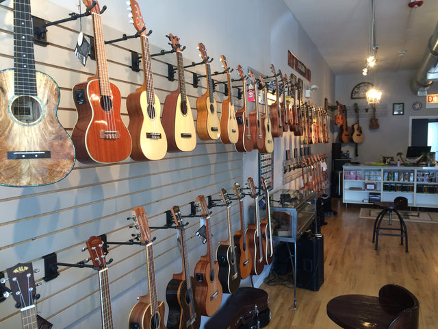 Aloha City Ukes - Interior Ukulele Wall
