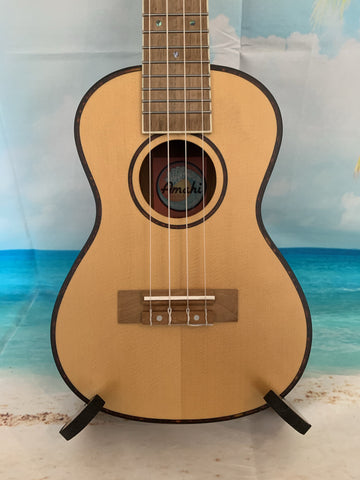 AMAHI UK-225C Concert Ukulele w/Case - Spruce Top/ Mahogany Body - UK-225C freeshipping - Aloha City Ukes