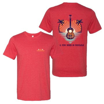 Jake Shimabukuro Apparel - All You Need is Ukulele T-Shirt (Red) Jake Shimabukuro