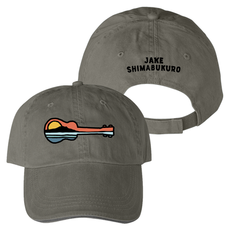 Ukulele Sunset Hat - Jake Shimabukuro - Olive Green Apparel Aloha City Ukes