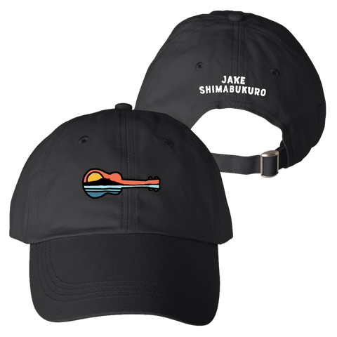 Ukulele Sunset Hat by Jake Shimabukuro - Black Apparel Aloha City Ukes