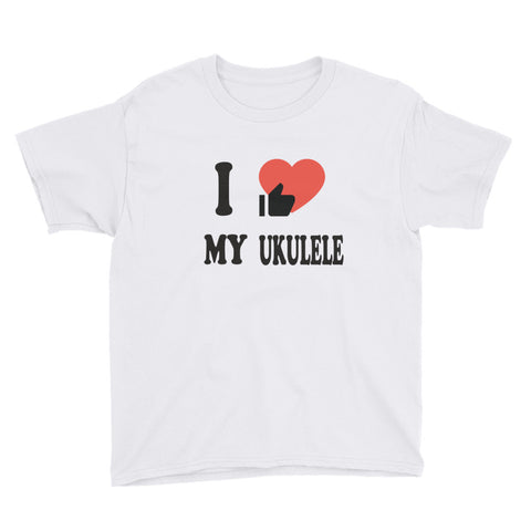 I LOVE MY UKULELE - Youth Short Sleeve T-Shirt