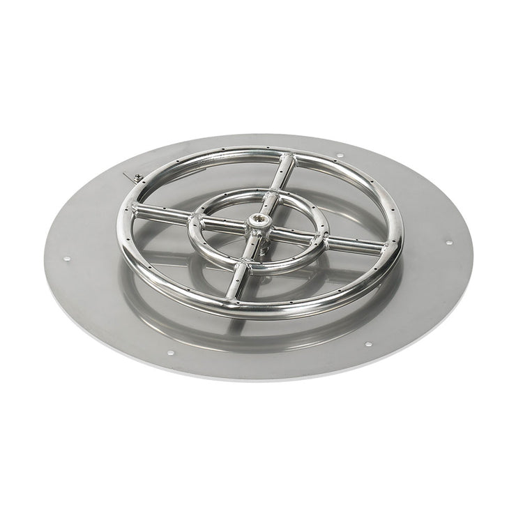 "SS-RFP-24-ASBL 24"" Pan Burner Insert from American Fire Glass"