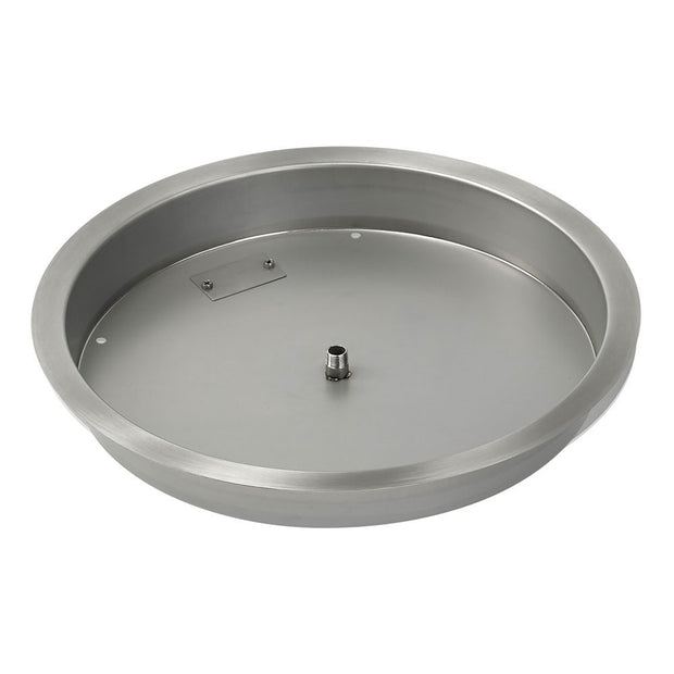 "American Fire Glass - 25"" Drop-In Burner Pan - SS-RSP-25-ASBL _2"