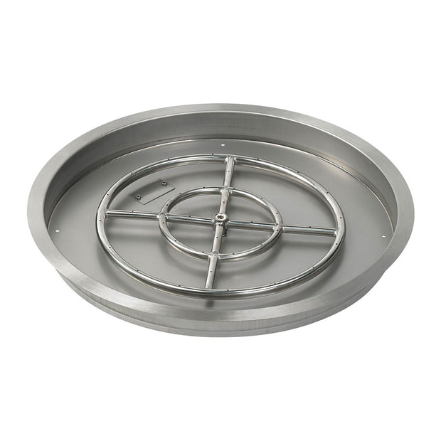 "American Fire Glass - 25"" Drop-In Burner Pan - SS-RSP-25-ASBL _"