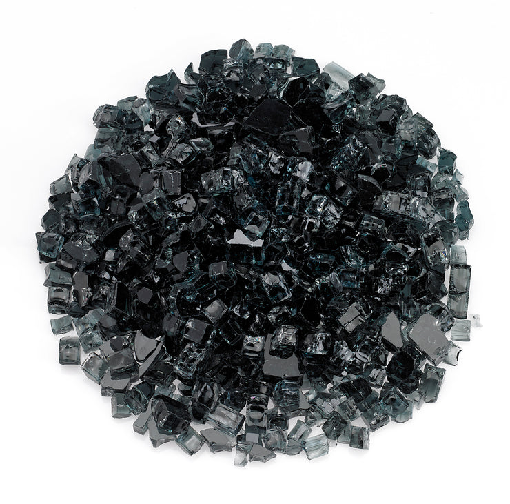 "American Fire Glass - Black 1/2"" Glass - AFF-BLK12-10"